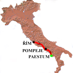 Italie Cestopis Pompeje